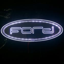 Светящиеся логотипы зеркальные
