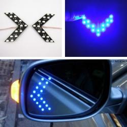 LED повторители в зеркала моргающие
