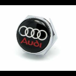 болты номерного знака с логотипом AUDI,Декоративный болт для номерного знака с логотипом AUDI,Болты для крепления госномера AUDI,декоративных болтов на номерные знаки логотипом AUDI купить,заказать,доставка