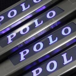 накладки на пороги с подсветкой Volkswagen Polo,светящиеся накладки на пороги Volkswagen Polo,светодиодные накладки на пороги Volkswagen Polo,светодиодные накладки на пороги авто Volkswagen Polo,накладки на пороги led Volkswagen Polo,декоративные накладки