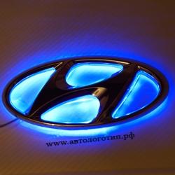 Светящийся логотип HYUNDAI Accent перед ,светящаяся эмблема HYUNDAI Accent перед ,светящийся логотип на авто HYUNDAI Accent перед,светящийся логотип на автомобиль HYUNDAI Accent перед,подсветка логотипа HYUNDAI Accent перед,2D,3D,4D,5D,6D