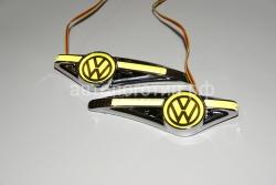 светодиодный поворотник на Volkswagen,светодиодный поворотник для Volkswagen,светодиодный поворотник с логотипом Volkswagen, светодиодный поворотник с эмблемой Volkswagen,led поворотник Volkswagen,светодиодный LED повторитель поворота для автомобиля VW