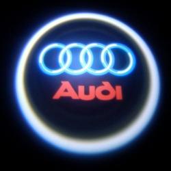 Подсветка логотипа в двери AUDI,подсветка дверей с логотипом AUDI,Штатная подсветка AUDI,подсветка дверей с логотипом авто AUDI,светодиодная подсветка логотипа AUDI в двери,Лазерные проекторы AUDI в двери,Лазерная подсветка AUDI
