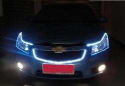 Светодиодные полосы в фары,Светодиодные габариты в виде полос в фары,светодиодные полосы внутрь фар в качестве ДХО,светодиодная полоса ауди, сверхяркая светодиодная полоса,изготовления фар а-ля Audi светодиодные полосы в фарах