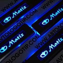 накладки на пороги с подсветкой DAEWOO Matiz,светящиеся накладки на пороги DAEWOO Matiz,светодиодные накладки на пороги DAEWOO Matiz,светодиодные накладки на пороги авто DAEWOO Matiz,накладки на пороги led DAEWOO Matiz,декоративные накладки DAEWOO Matiz