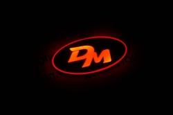 2d светящийся логотип santa fe dm, большой 2d логотипы