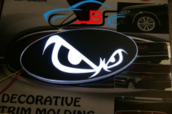 Светящийся логотип злой,светящаяся эмблема злой,светящийся логотип на авто скорпион,светящийся логотип на автомобиль злой,подсветка логотипа злой,купить,заказать,доставка