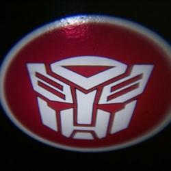 беспроводная подсветка дверей с логотипом autobots 7w навесная подсветка дверей 5w