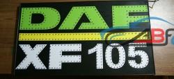 Светящийся логотип DAF XF105,светящийся логотип для грузовика DAF XF105,светящаяся эмблема DAF XF105,табличка DAF XF105,картина DAF XF105,логотип на стекло DAF XF105,светящаяся картина DAF XF105,светодиодный логотип DAF XF105,Truck Led Logo DAF XF105,12v,