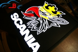 Светящийся логотип SCANIA,светящийся логотип для грузовика SCANIA,светящаяся эмблема SCANIA,табличка SCANIA,картина SCANIA,логотип на стекло SCANIA