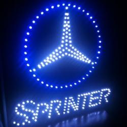 Светящийся логотип SPRINTER,светящийся логотип для грузовика SPRINTER,светящаяся эмблема SPRINTER,табличка SPRINTER,картина SPRINTER,логотип на стекло SPRINTER,светящаяся картина SPRINTER,светодиодный логотип SPRINTER,Truck Led Logo SPRINTER,12v,24v