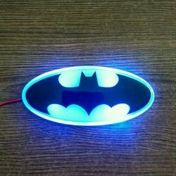 Светящийся логотип Batman,светящаяся эмблема Batman,светящийся логотип на авто Batman,светящийся логотип на автомобиль Batman,подсветка логотипа Batman