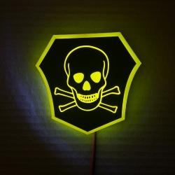 Светящийся логотип Опасно для жизни,светящаяся эмблема Опасно для жизни,светящийся логотип на авто Опасно для жизни,светящийся логотип на автомобиль Опасно для жизни,подсветка логотипа Опасно для жизни