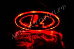 Светящийся логотип Lada Largus+логотип,светящаяся эмблема Lada Largus+логотип,светящийся логотип на авто Lada Largus+логотип,светящийся логотип на автомобиль Lada Largus+логотип,подсветка логотипа Lada Largus+логотип,2D,3D,4D,5D,6D