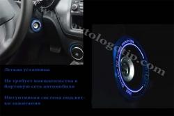 Подсветка замка зажигания Honda Pilot,подсветка ключа зажигания Honda Pilot,светящаяся окантовка замка зажигания Honda Pilot,светящаяся накладка замка зажигания Honda Pilot,Наклейка окантовка замка зажигания Honda Pilot светится в темноте за счет светонак