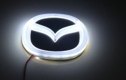 Светящийся логотип MAZDA,светящаяся эмблема MAZDA,светящийся логотип на авто MAZDA,светящийся логотип на автомобиль  MAZDA,подсветка логотипа MAZDA,2D,3D,4D,5D,6D