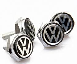 болты номерного знака с логотипом Volkswagen,Декоративный болт для номерного знака с логотипом Volkswagen,Болты для крепления госномера Volkswagen,декоративных болтов на номерные знаки логотипом Volkswagen купить,заказать,доставка