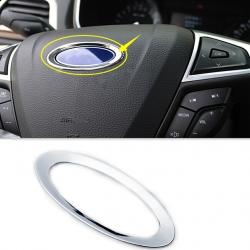 Хром окантовка логотипа на руль для Ford Fiesta, Mondeo, Focus, B-Max,Кольцо накладка на руль,Хромированную окантовку эмблемы на руле,Окантовка значка на руле подходит для моделей Форд,Фокус,Мондео,Куга,Фиеста,Фьюжн