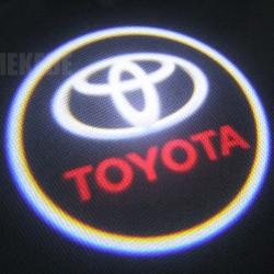 Подсветка логотипа в двери TOYOTA,подсветка дверей с логотипом TOYOTA,Штатная подсветка TOYOTA,подсветка дверей с логотипом авто TOYOTA,светодиодная подсветка логотипа TOYOTA в двери,Лазерные проекторы TOYOTA в двери,Лазерная подсветка TOYOTA