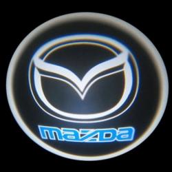 Подсветка логотипа в двери MAZDA,подсветка дверей с логотипом MAZDA,Штатная подсветка MAZDA,подсветка дверей с логотипом авто MAZDA,светодиодная подсветка логотипа MAZDA в двери,Лазерные проекторы MAZDA в двери,Лазерная подсветка MAZDA
