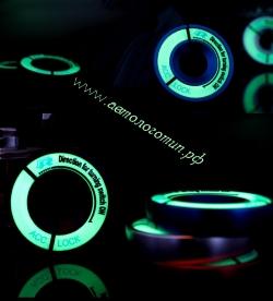 Подсветка замка зажигания,подсветка ключа зажигания,светящаяся окантовка замка зажигания,светящаяся накладка замка зажигания,Наклейка окантовка замка зажигания светится в темноте за счет светонакопителя