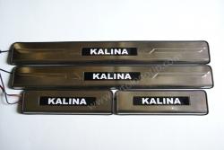 накладки на пороги с подсветкой vaz kalina накладки на пороги c подсветкой