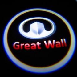 Подсветка логотипа в двери GREAT WALL,подсветка дверей с логотипом GREAT WALL,Штатная подсветка GREAT WALL,подсветка дверей с логотипом авто GREAT WALL,светодиодная подсветка логотипа GREAT WALL в двери,Лазерные проекторы GREAT WALL в двери,Лазерная подсв