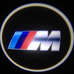 Подсветка дверей с логотипом автомобиля BMW M X5 E39 E53 в замен штатной подсветки. VI поколение.