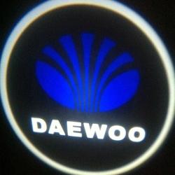 Подсветка логотипа в двери Daewoo,подсветка дверей с логотипом Daewoo,Штатная подсветка Daewoo,подсветка дверей с логотипом авто Daewoo,светодиодная подсветка логотипа Daewoo в двери,Лазерные проекторы Daewoo в двери,Лазерная подсветка Daewoo