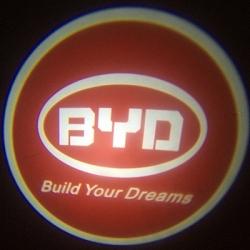 Подсветка логотипа в двери BYD,подсветка дверей с логотипом BYD,Штатная подсветка BYD,подсветка дверей с логотипом авто BYD,светодиодная подсветка логотипа BYD в двери,Лазерные проекторы BYD в двери,Лазерная подсветка BYD