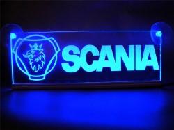 Светящийся логотип Scania 2D/3D,светящийся логотип для грузовика Scania 2D/3D,светящаяся эмблема Scania 2D/3D,табличка Scania 2D/3D,картина Scania 2D/3D,логотип на стекло Scania 2D/3D,светящаяся картина Scania 2D/3D,светодиодный логотип Scania 2D/3D,Truck