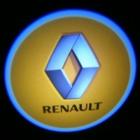 Внешняя подсветка дверей с логотипом Renault 7W