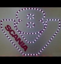 Светящийся логотип для грузовика SCANIA V8