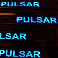 Накладки на пороги с подсветкой NISSAN Pulsar