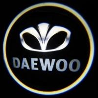 Беспроводная подсветка дверей с логотипом Daewoo