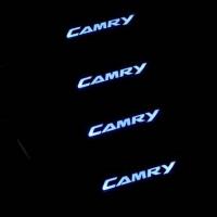 Накладки на пороги с подсветкой Toyota Camry