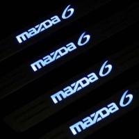 Накладки на пороги с подсветкой Mazda 6