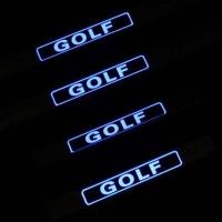 Накладки на пороги с подсветкой Volkswagen Golf 6