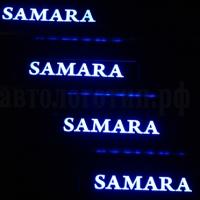 Накладки на пороги с подсветкой VAZ Samara