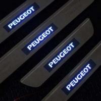Накладки на пороги с подсветкой Peugeot 308