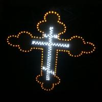 Светящийся логотип для грузовика Двойной Крест
