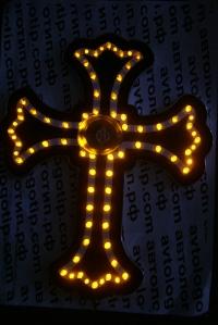 Светодиодная табличка Крест