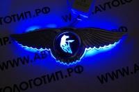 Крылатый логотип Kamaz с подсветкой