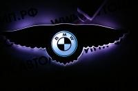 Крылатый логотип BMW с подсветкой
