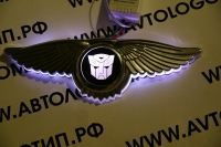 Крылатый логотип Autobots с подсветкой