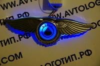 Крылатый логотип Geely,Крылатый логотип Geely с подсветкой,светящийся логотип Geely с крыльями,крылья с подсветкой Geely,крылатый логотип Geely купить,светящийся логотип Geely с крыльями купить