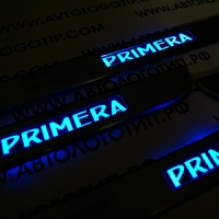 Накладки на пороги с подсветкой NISSAN Primera P12