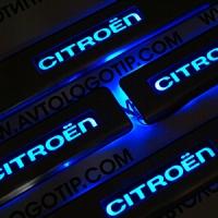 Накладки на пороги с подсветкой Citroen