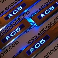 Накладки на пороги с подсветкой Citroen C5