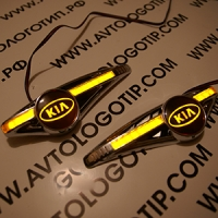 Светодиодный поворотник с логотипом KIA